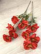 Искусственная ветка мака.Мак декоративный для напольной вазы (110 см), фото 2