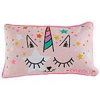 Подушка детская Actuel  розовая  30х50 см. Auchan Ашан
