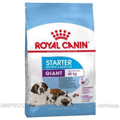 Сухой корм Royal Canin Giant Starter для щенков гигантских пород, 15КГ