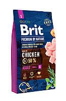 Сухой корм Brit Premium Adult S для собак мелких пород c курицей 3 КГ