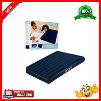Полуторный надувной матрас Intex 68758 ,Размеры: 137-191-22 см.