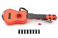 Гитара с ремешком, 2 цвета микс, в чехле 42*14*4см /96-2/