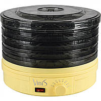 Сушка для фруктов Vinis VFD-361С (360Вт, 35–70°С, 5 лотков, термостат, автоотключение, регулируемые поддоны)