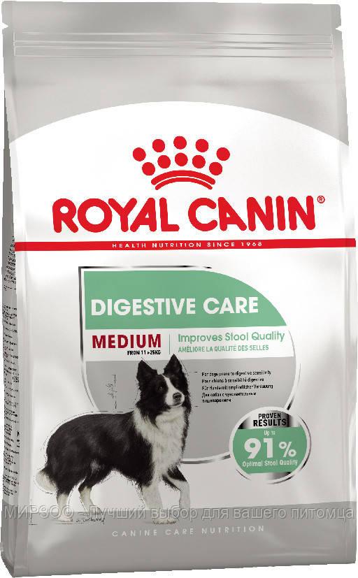 Сухой корм Royal Canin Medium Digestive Care для собак с чувствительной пищеварительной системой 3КГ