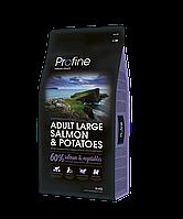 Сухой корм Profine Adult Large Breed Salmon & Potatoes для собак крупных пород с лососем 15 КГ