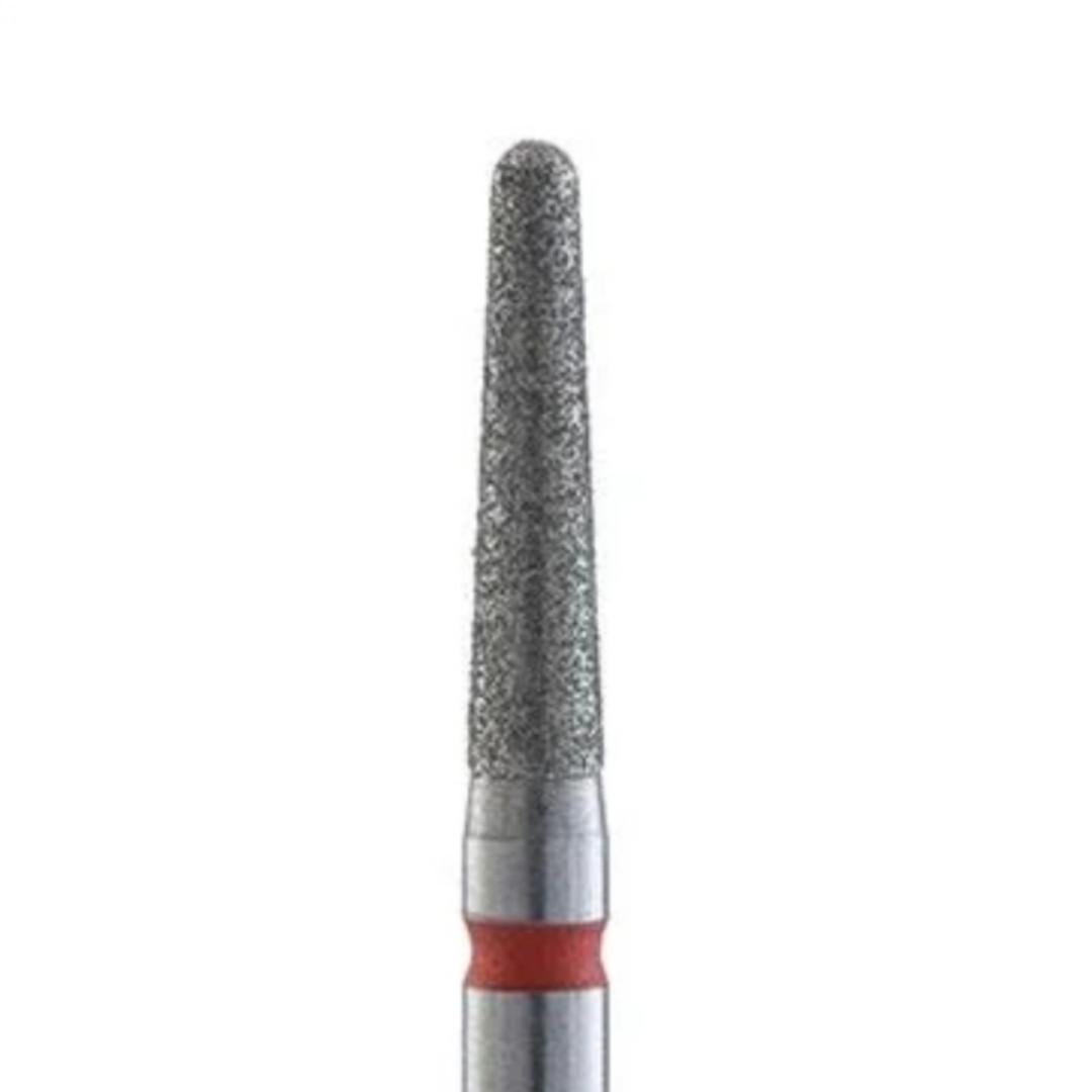 Алмазная насадка, конус закругленный,  2.5 (Красная)