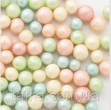 Бусины сахарные перламутровые микс 5 мм. 50г