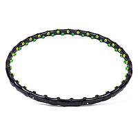Обруч массажный Profi MS 0455 98 см Черно-зеленый (intMS 0455)