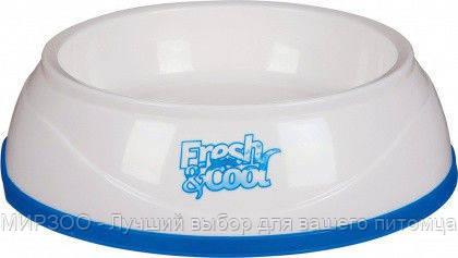 Trixie TX-24959 миска охлаждающая  Cool Fresh  1л/20см, белая/синяя