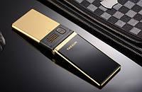 Телефон раскладушка с камерой и русской клавиатурой 2МП на 2 сим карты Tkexun M2 gold