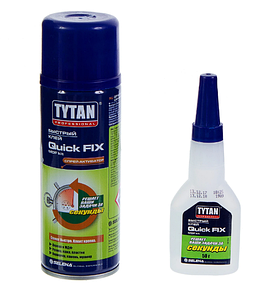Клей двухкомпонентный цианакрилатный Tytan для MDF 200 мл + 50 г