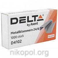 Скоба Delta by Axent D4102 №24 для степлера