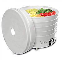 Сушка для фруктов Vinis VFD-520W (520Вт, 35–70°С, 5 лотков, термостат, автоотключение), фото 1