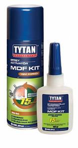 Клей двухкомпонентный цианакрилатный Tytan для MDF 400 мл + 100 г