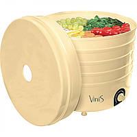 Сушка для фруктів Vinis VFD-520C (520Вт, 35-70°С, 5 лотків, термостат, автовимкнення), фото 1