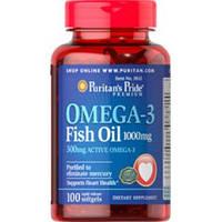 Комплекс незаменимых жирных кислот Puritan's Pride Omega 3 Fish Oil 1000 mg Circulatory (60 капс)