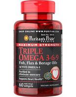 Комплекс незаменимых жирных кислот Puritan's Pride Triple Omega 3-6-9 (60 капс)