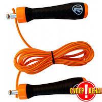 Скакалка RDX Steel Gel скоростная 270 см оранжевый, фото 1