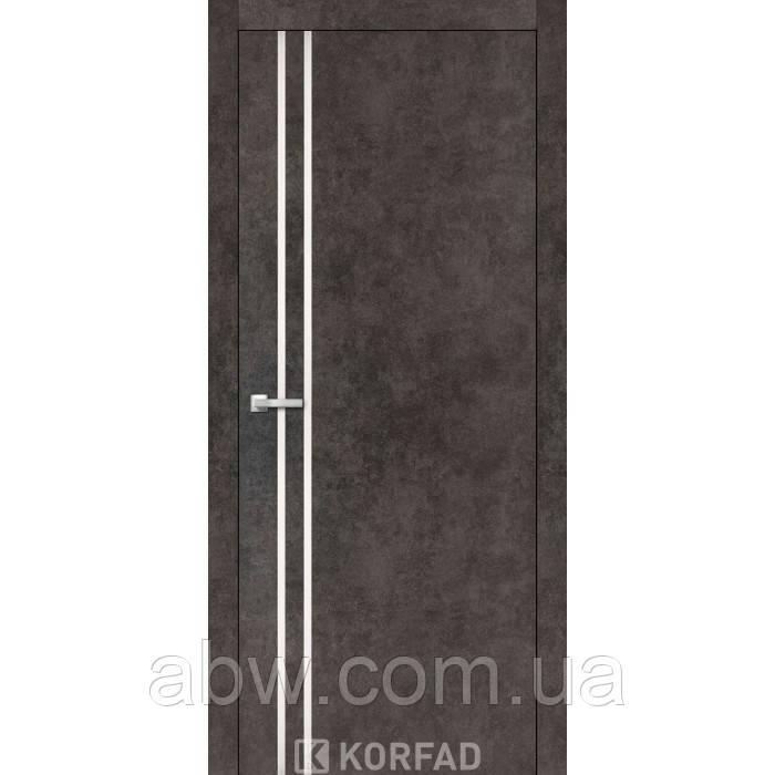 Міжкімнатні двері Korfad ALP-01 лофт бетон з молдингом