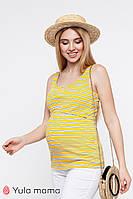 Полосатая майка для беременных и кормящих р. 42-50 ТМ Юла Мама MILEY NR-20.062