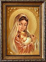 Икона из янтаря Дива Мария з Исусом, Ікона з бурштину Діва Марія з Ісусом 20x30 см