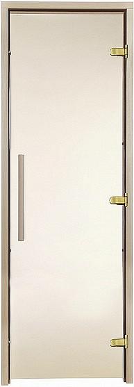 Стеклянная дверь для бани и сауны GREUS Premium 80/200 бронза