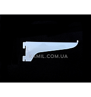 Полкодержатель 20 см в рейку (профиль) белый