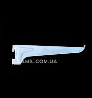 Полкодержатель 25 см в рейку (профиль) белый