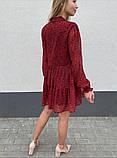 Воздушное шифоновое платье с широкой юбкой с рюшами, 3цвета. Р-р.S, M, L Код 511Т, фото 3