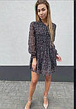Воздушное шифоновое платье с широкой юбкой с рюшами, 3цвета. Р-р.S, M, L Код 511Т, фото 6