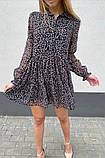 Воздушное шифоновое платье с широкой юбкой с рюшами, 3цвета. Р-р.S, M, L Код 511Т, фото 7