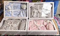 Детский плед одеяло с игрушкой 100х110