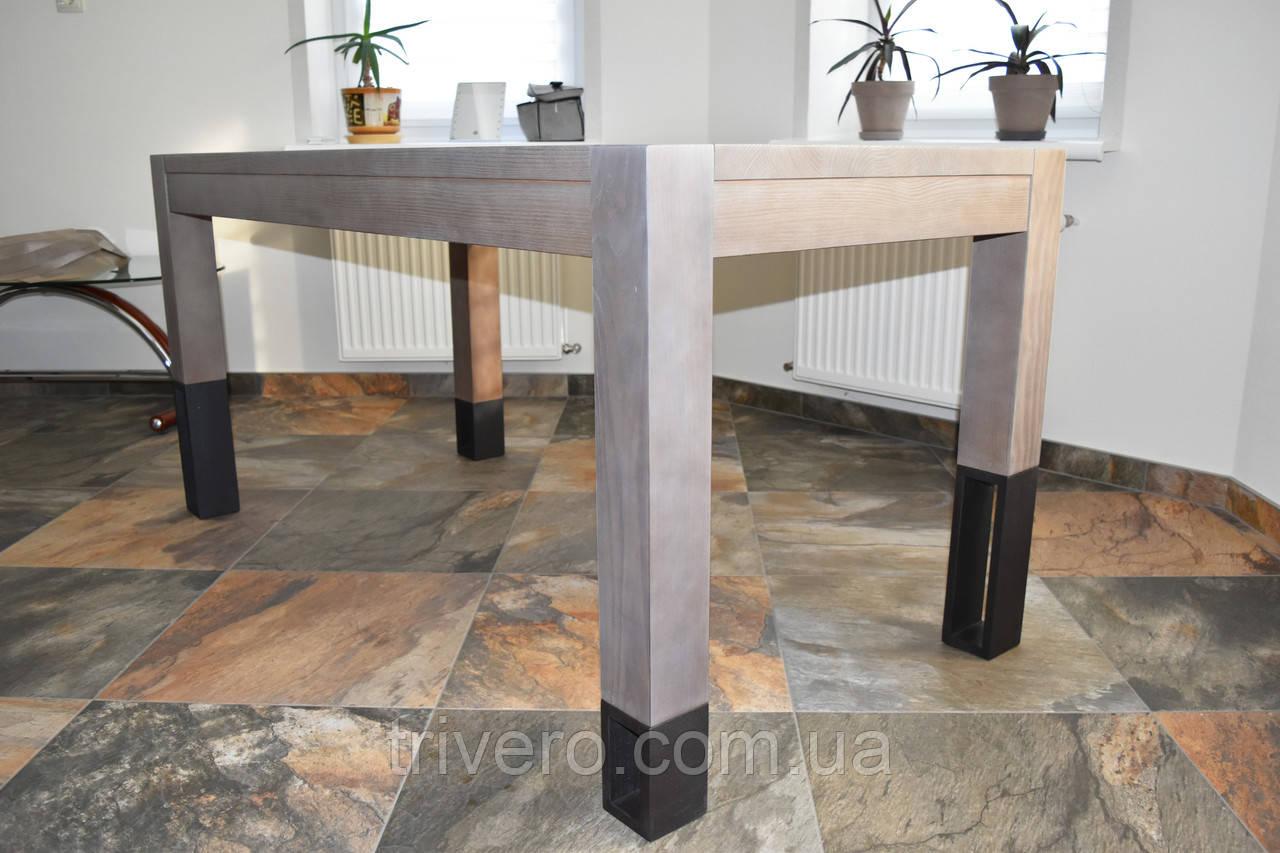 Большой стол из дерева в лофт стиле