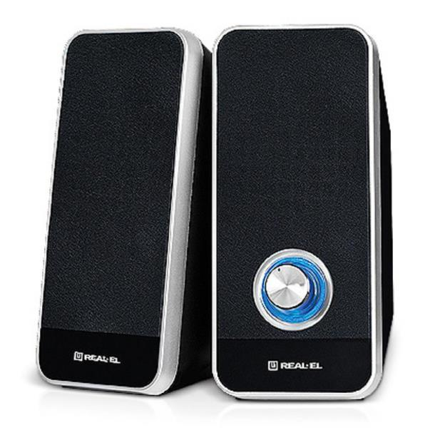Акустическая система REAL-EL S-80, USB, black
