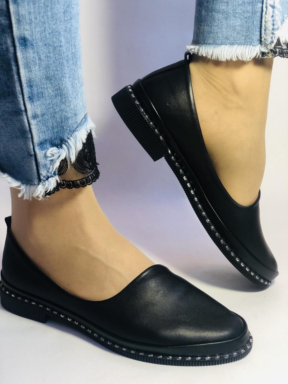Стильные! Женские туфли -балетки из натуральной кожи Турция. Размер 36,38,41 Супер комфорт.Vellena