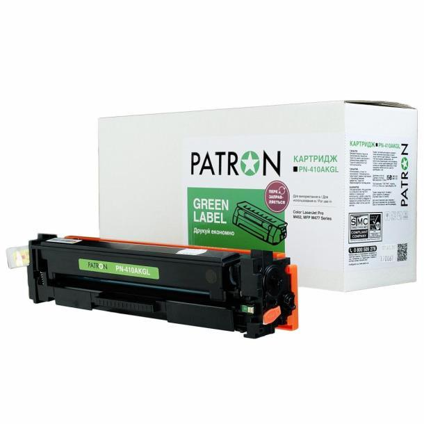 Картридж PATRON HP CLJ CF410A BLACK GREEN Label (PN-410AKGL)