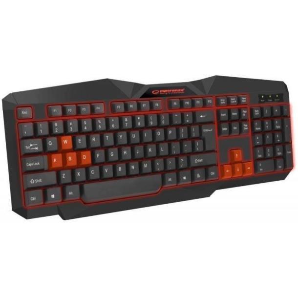 Клавиатура Esperanza EGK201 Red USB LED (EGK201RUA)