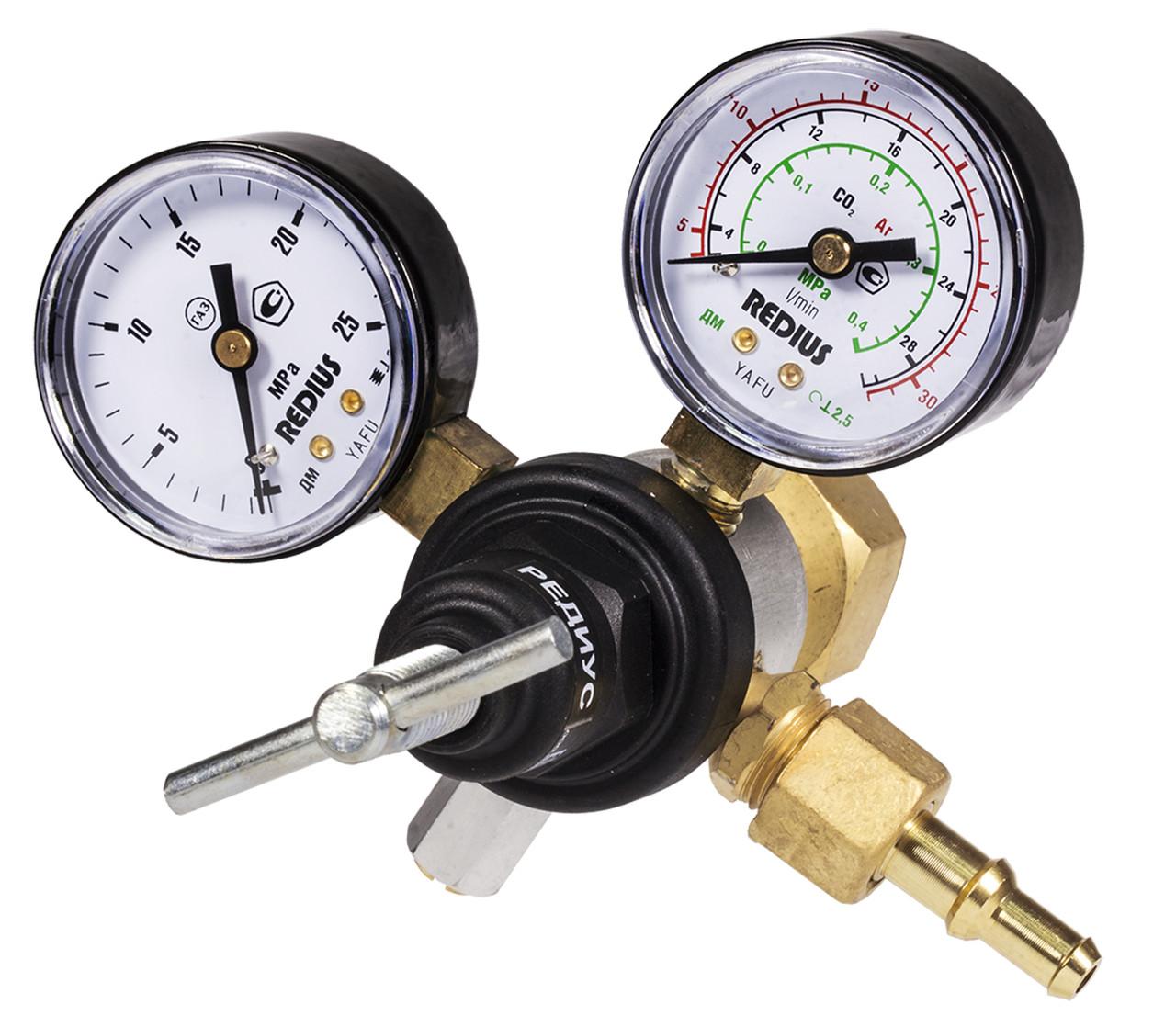 Регулятор расхода газа малогабаритный комбинированный (углекислотный/аргоновый) У-30/АР-40-КР1-м (Латвия)