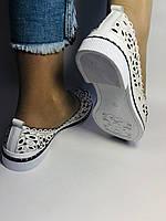 Женские туфли -балетки из натуральной кожи с крупной перфорацией.Турция 38. 39 Супер комфорт.Vellena, фото 9