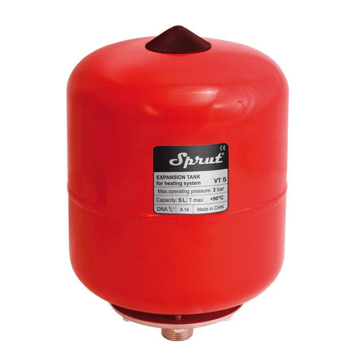Расширительный компенсационный бак для отопления Sprut VT/5L
