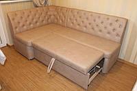 М'який куток на кухню з розкладним спальним місцем (Капучіно), фото 1