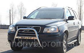 Кенгурятник з лого (захист переднього бампера) Volvo XC90 2002-2014