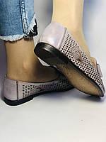 Стильные! Женские туфли -балетки из натуральной кожи 37.38.39. Супер комфорт.Vellena, фото 6