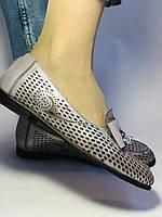 Стильные! Женские туфли -балетки из натуральной кожи 37.38.39. Супер комфорт.Vellena, фото 2