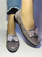Стильные! Женские туфли -балетки из натуральной кожи 37.38.39. Супер комфорт.Vellena, фото 3