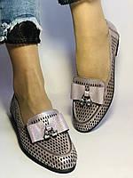 Стильные! Женские туфли -балетки из натуральной кожи 37.38.39. Супер комфорт.Vellena, фото 8