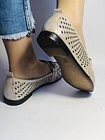 Стильные! Женские туфли -балетки из натуральной кожи 37-39. Супер комфорт.Vellena, фото 4