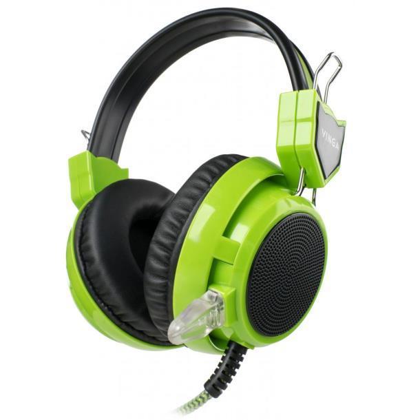 Наушники Vinga HSC058 Gaming Green (HSC058GR)