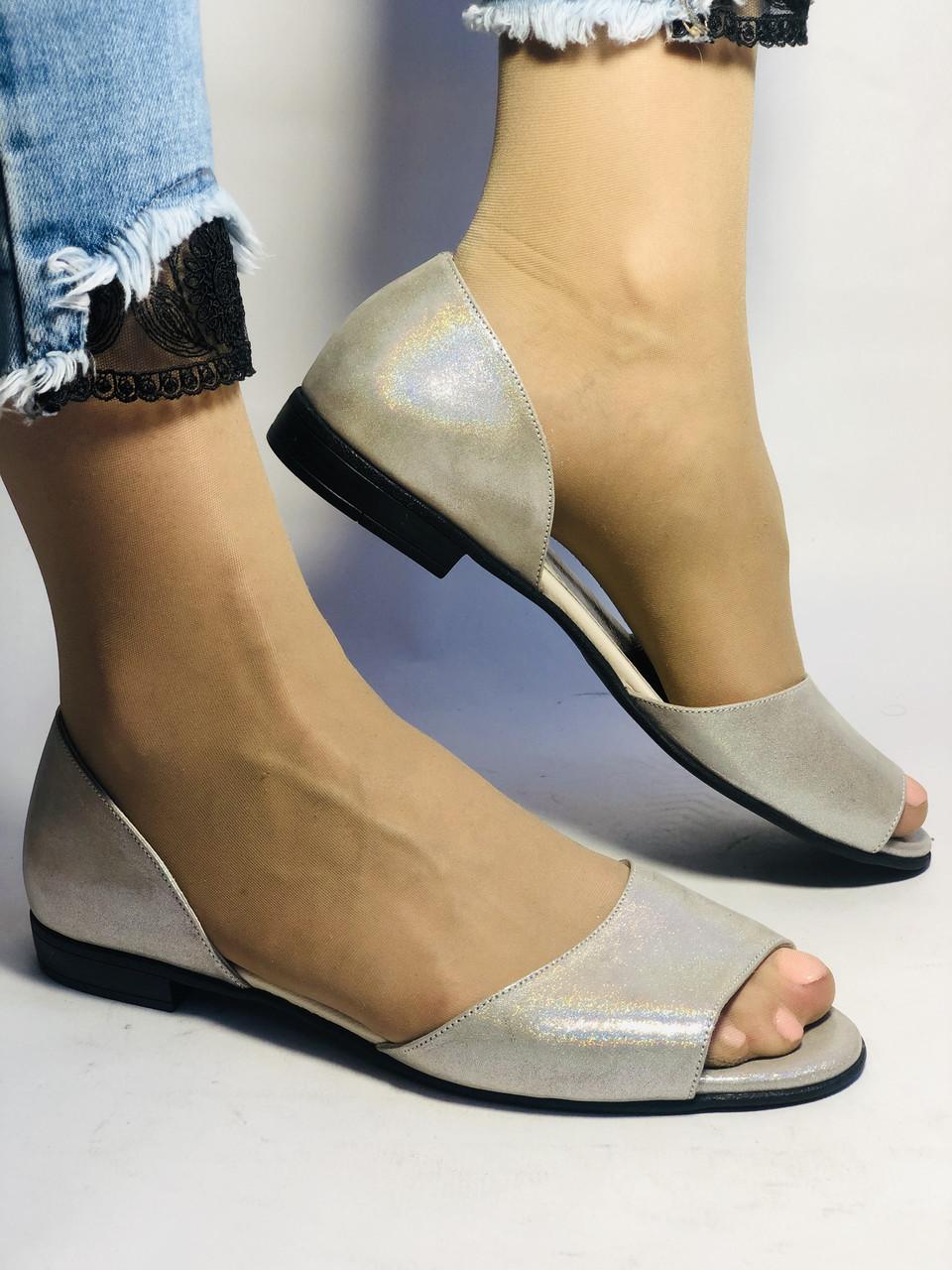 Стильные! Женские туфли -балетки из натуральной кожи. Турция.37,38,40. Супер комфорт. Vellena