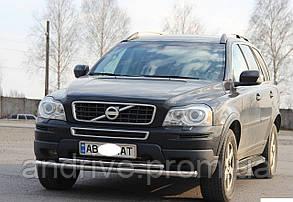 Захист переднього бампера (ус подвійний) Volvo XC90 2002-2014